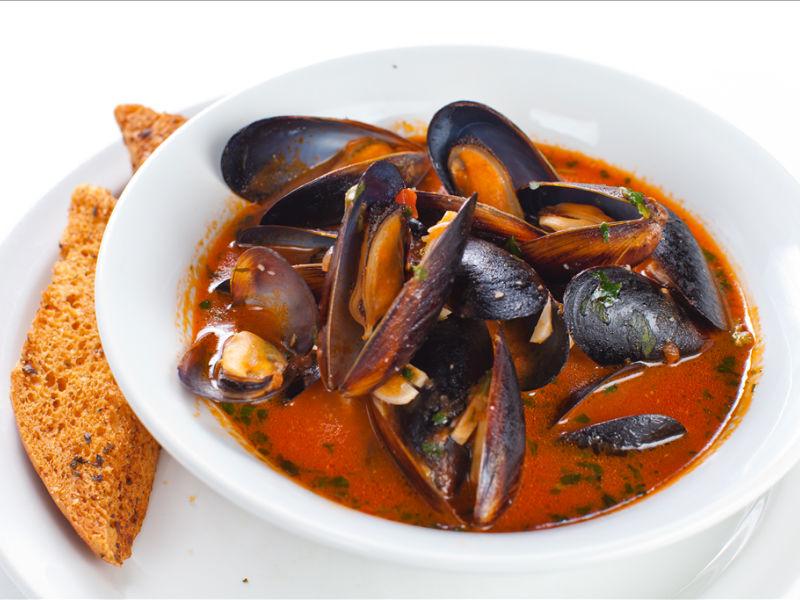 Суп с мидиями рецепт с фото